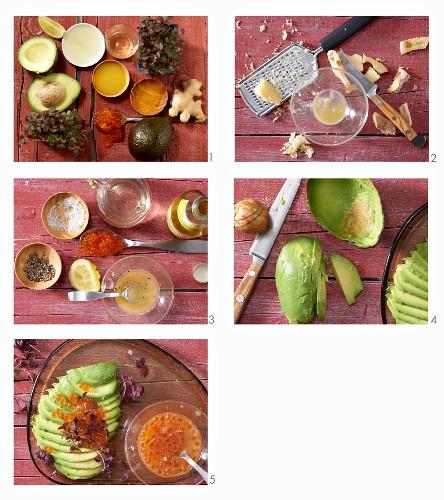 How to make an Asian avocado salad with keta caviar