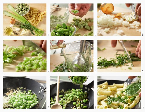 How to make pasta with beans and rocket