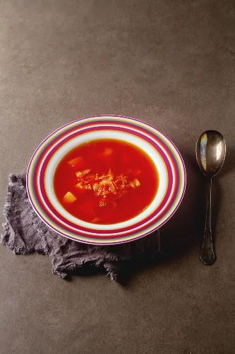 Borscht (Beetroot soup, Russia)