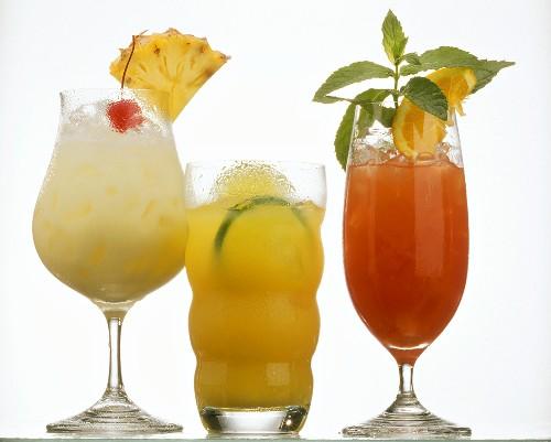 Caribbean drinks: Pina Colada, Rum Runner & Planter's Punch