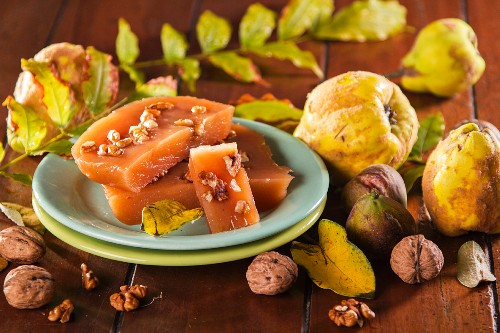 Quince cheese with walnuts