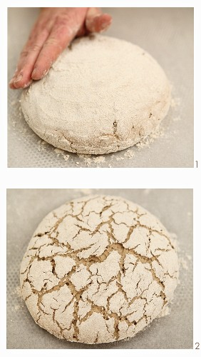 The making of a loaf of 'Frankenlaib', a classic bread from the Franken region of Bavaria, made with spices