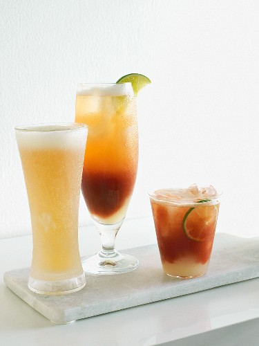 Beer and michelada cocktails