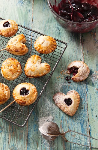 Cherry pie pops (small cherry pies on sticks)