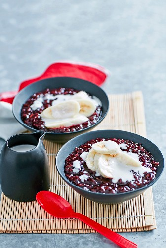 Schwarzer Reispudding mit Kokosmilch (glutenfrei)
