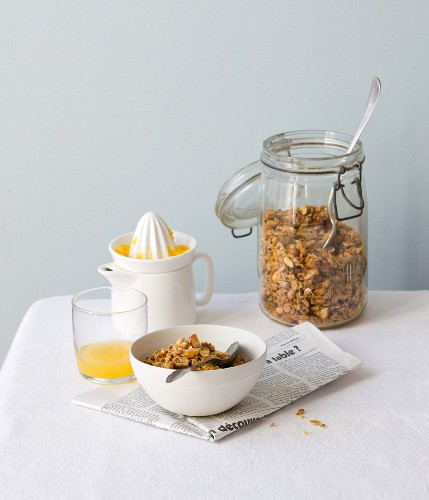 Homemade citrus muesli