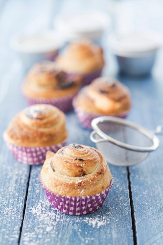 Cruffins (chocolate croissants in muffin cases)