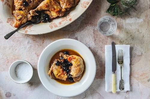 Hunter's Stew mit Geflügel und Oliven