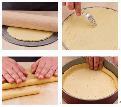 How to make a tart base in a spring form baking tin