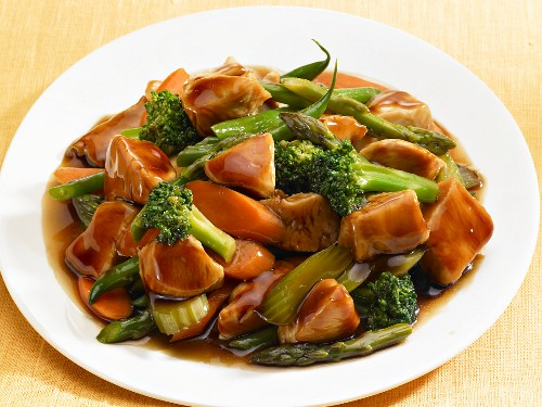 Chicken with vegetables (Asia)
