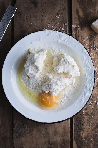 Ingredients for ricotta gnocchi