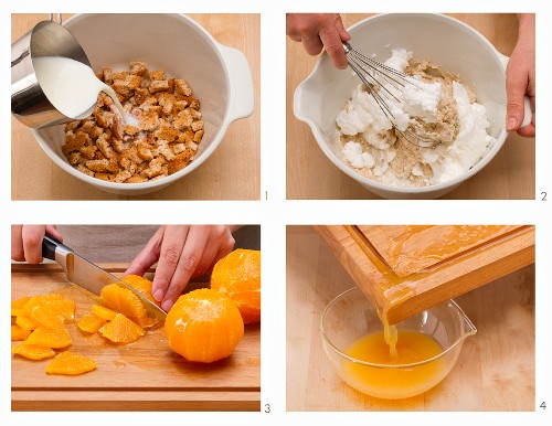 How to make quark cakes with orange sauce