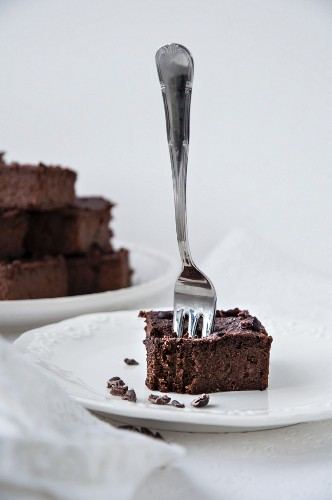 Sweet potato brownies with cocoa nibs