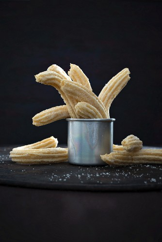 Vegan churros (Mexican pastry biscuits)