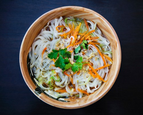 Noodle soup with carrots and coriander (Thailand)