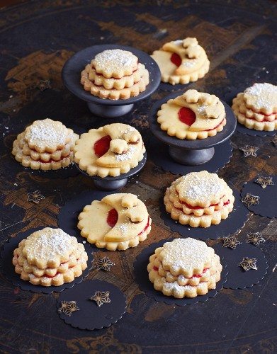 Three tier biscuits and nougat biscuits