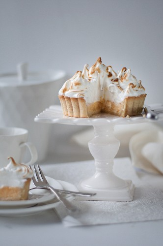 Lemon Meringue Pie with Slice Removed