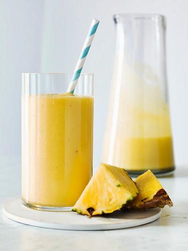 Ginger piña colada smoothie