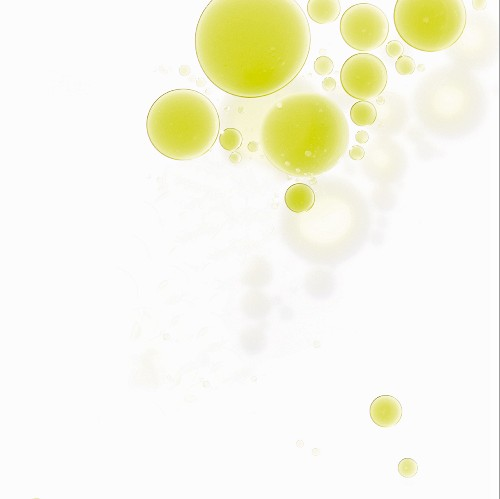 Olive oil drops in water