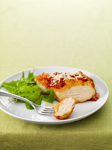 Chicken breast with a parmesan coating