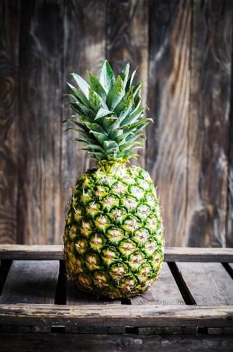 Queen Pineapple on dark background