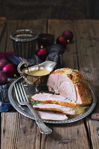 Roast pork, cooked in milk
