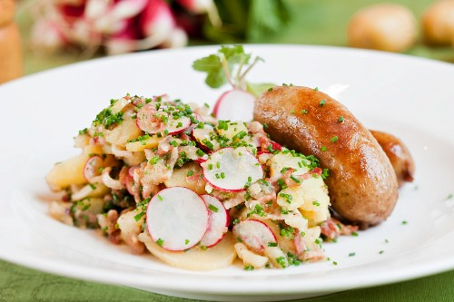 Sausage with potato salad