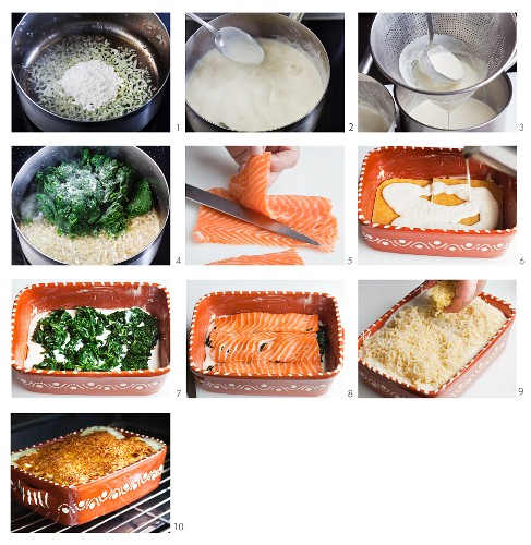 How to make salmon and spinach lasagne