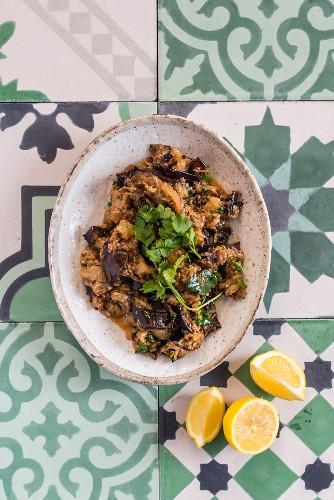 Marokkanischer Auberginensalat
