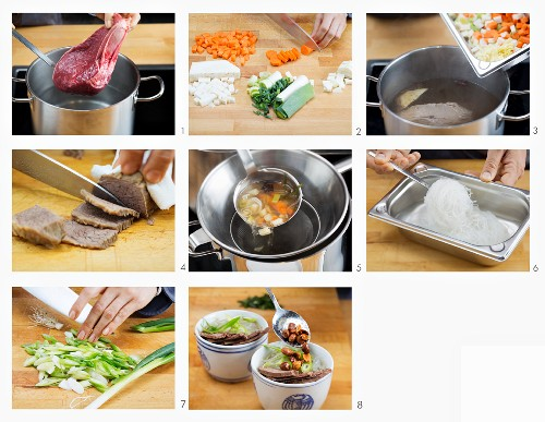 How to make pho bo with beef (Vietnam)
