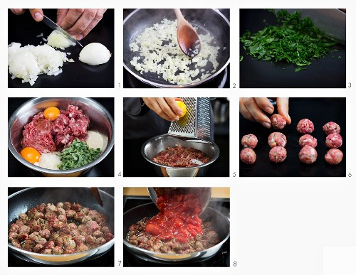 How to make spaghetti with meatballs and tomato sauce