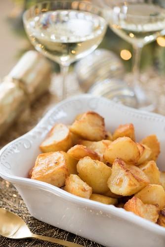 Bratkartoffeln (weihnachtliche Beilage)