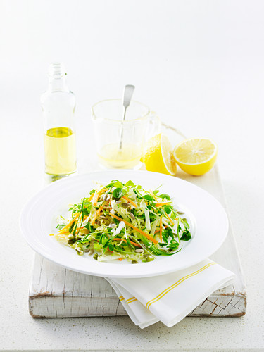 Apple and Seed Slaw with Macadamia Dressing