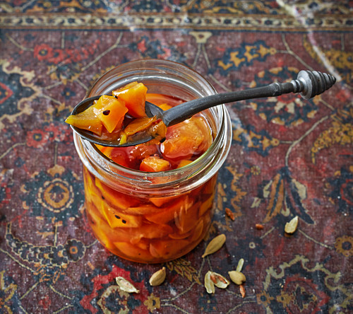 Morabba Beh – Persian quince preserve with cardamom