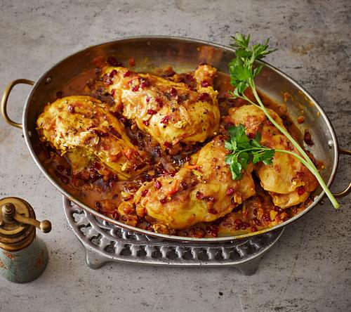 Koreshte Morgh-Zereshk – chicken in barberry sauce (Persia)