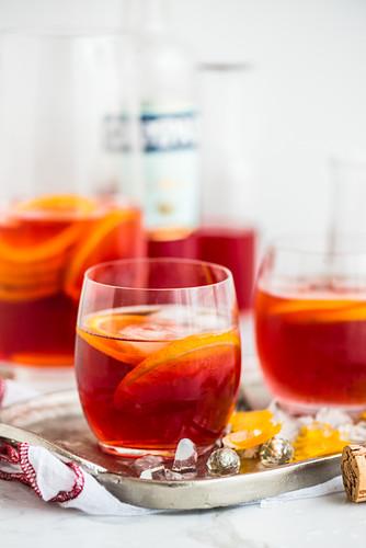 Negroni Sbagliato (a cocktail with prosecco, Campari and vermouth)