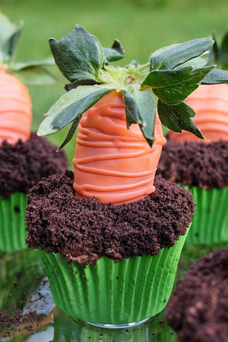 Strawberry carrot cupcakes for Easter