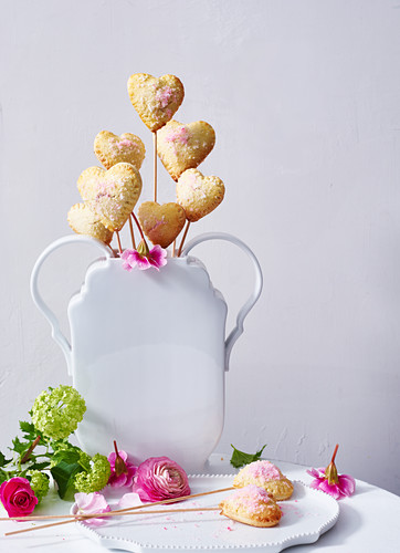 Mother's Day hearts on sticks