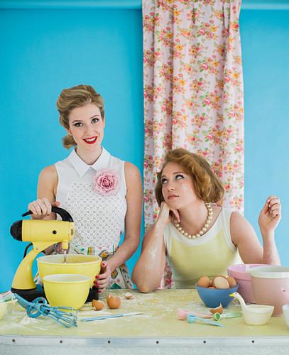 Retro baking women