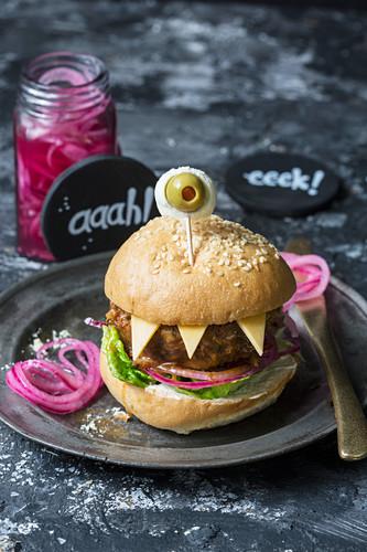 A monster burger for Halloween