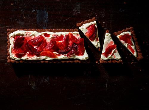 Blood Orange fruit tart