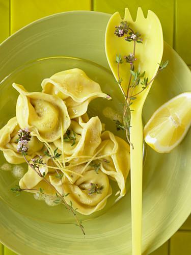 Tortellini with ricotta and lemon