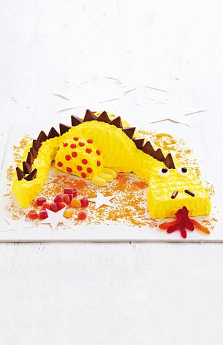 Child's cake: Friendly dragon