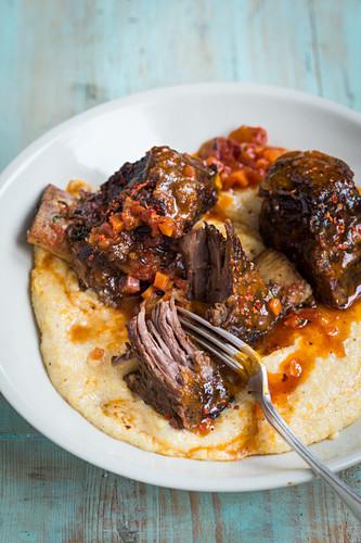 Italian style ribs with polenta