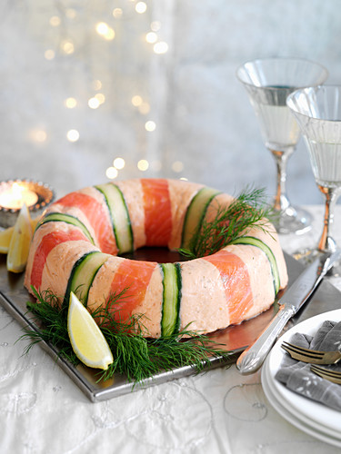 Salmon mousse garland