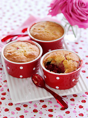 Summery raspberry and strawberry pudding