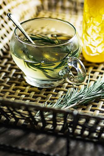 Rosemary tea with honey