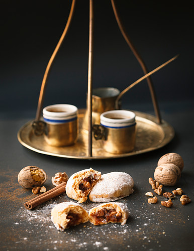 Nut biscuits and mocha