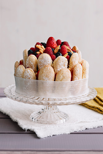 Fruit and Almond Charlotte