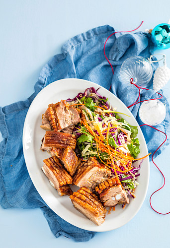 Five-spice Pork Belly with Asian Slaw